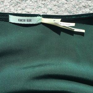 Kimchi Blue Dresses - Green velvet wrap dress